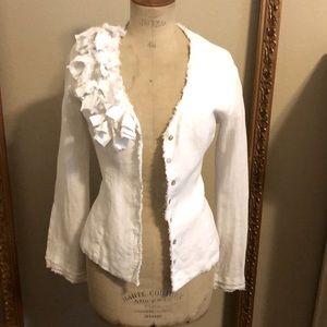 Ann Fontaine Linen top/blouse